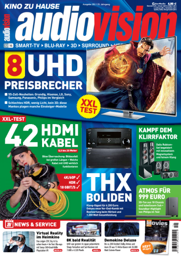 audiovision kino zu hause magazin jahresthema 2016. Black Bedroom Furniture Sets. Home Design Ideas