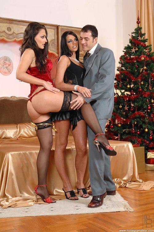 Jingle Balls And Jigglin Booties-Aletta Ocean and Simony Diamond