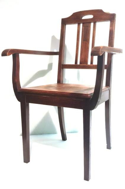 Jugendstil bauhaus armlehnstuhl stuhl schreibtischstuhl for Bauhaus schreibtischstuhl