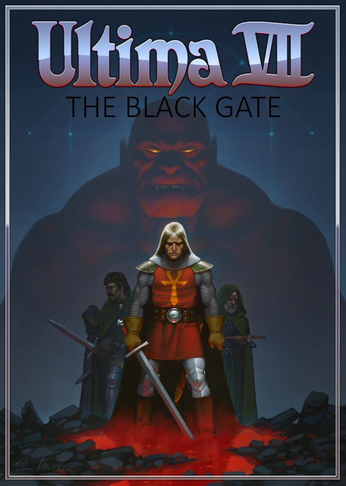 Ultima VII: The Black Gate Deutsche  Texte, Untertitel, Menüs, Videos, Stimmen / Sprachausgabe Cover