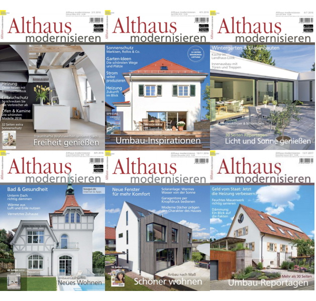 Althaus Modernisieren - 2016 Full Year Issues Collection