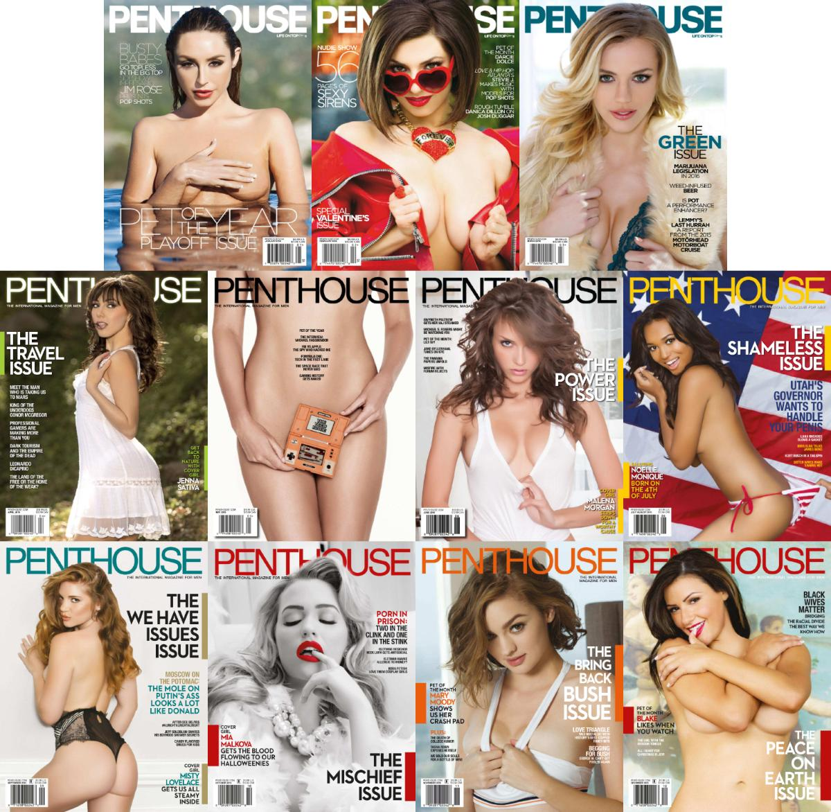Penthouse Usa 2016 Full Year Issues Collection