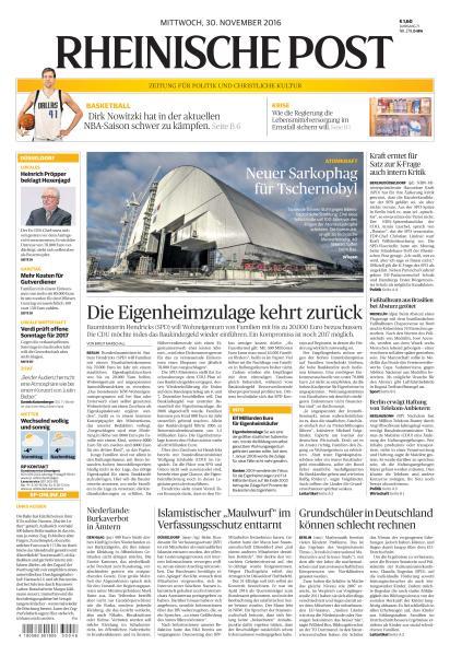 Rheinische Post 30 November 2016