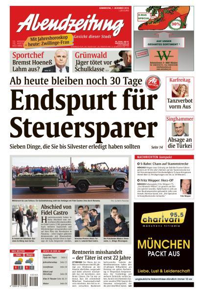 Abendzeitung Muenchen 1 Dezember 2016