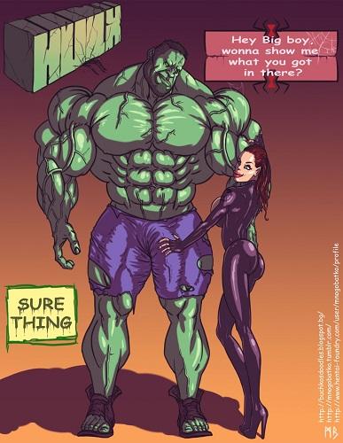 Mnogobatko - Hulk vs Black Widow