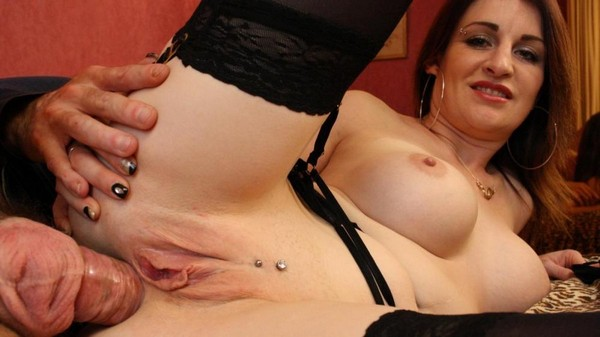 Missy Charme - Dirty sex ends with cum on tits for amateur French MILF Missy Charme