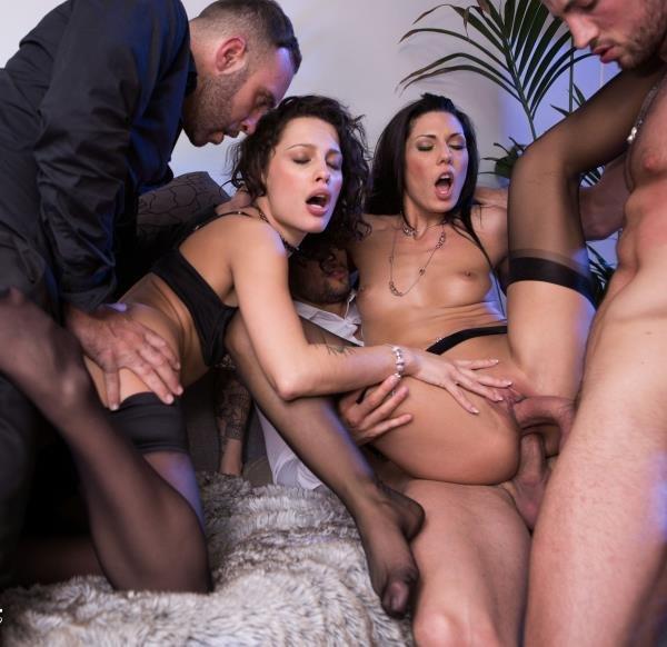 Nikita Bellucci, Alexa Tomas -  Nikita And Alexa, anal sex party with 3 men 2016