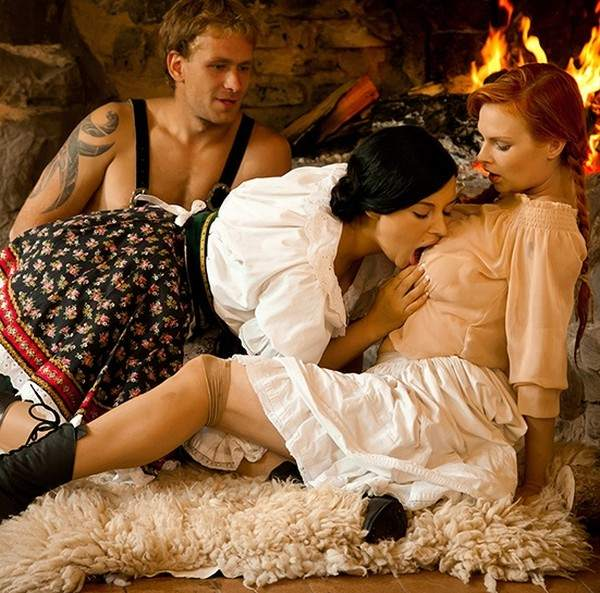 Tarra White, Anna Polina - Anna, Tarra hard fuck at the fireplace, authentic costume