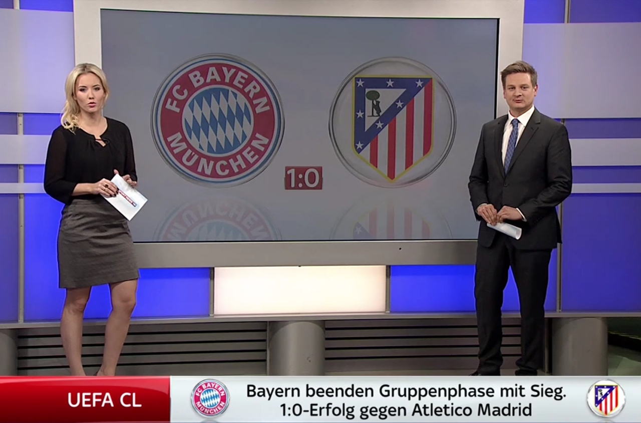 "Laura Papendick  ""Sky Sport News HD"" am 07.12.2016 ..."
