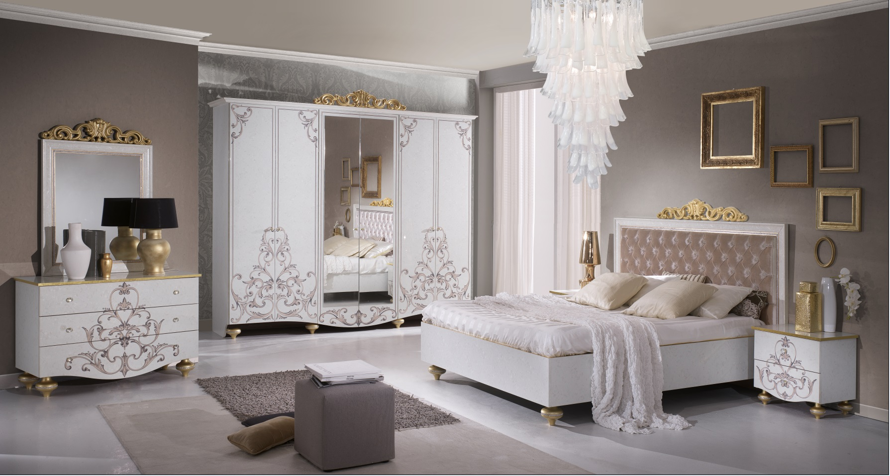 Schlafzimmer Weiß Gold  rheumri.com