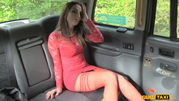 Jimena Lago - Hot Teen In Red Dress And Stockings 08.12.2016