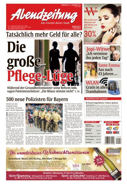 Abendzeitung Muenchen 15 Dezember 2016