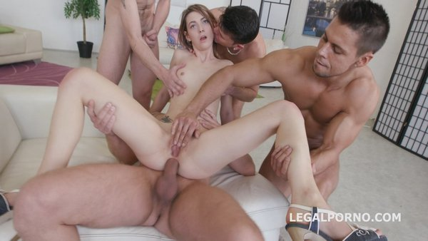 5on1 welcome in Porn Tera Link with first anal, dp, gapes, multiple facial GIO293