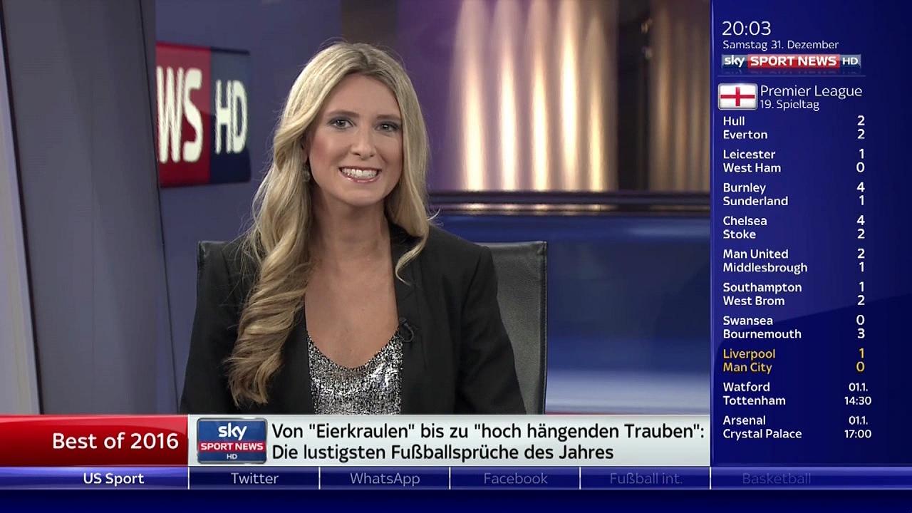 Christiane Imdahl At Sky Sport News Hd Am 31122016 Bilder Bei
