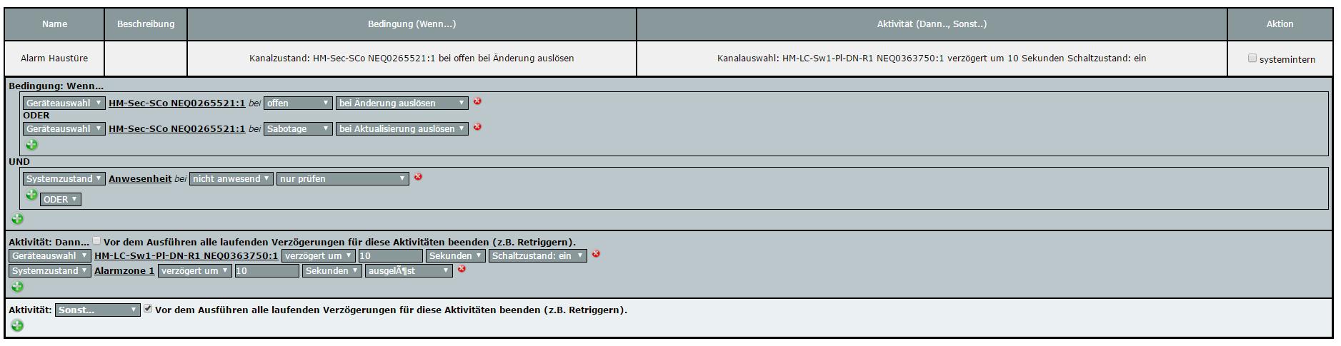 steuerung alarmanlage per wandtaster - homematic-forum / fhz-forum