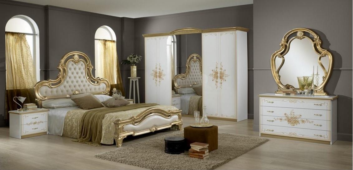 schlafzimmer barock edel rokko klassisch gold - temiz möbel, Hause deko