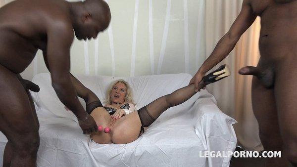 Granny whore Marina Beaulieu gets fucked like a bitch. DP, DAP IV029