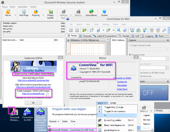 Elcomsoft Wireless With TamoSoft CommView 6.4.416.0 - 7.1.805 Türkçe