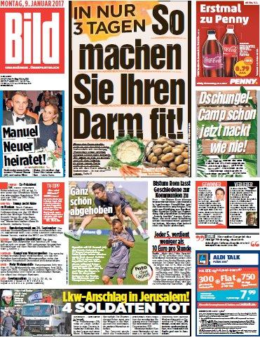 Cover: Bild-Zeitung vom 09.01.2017