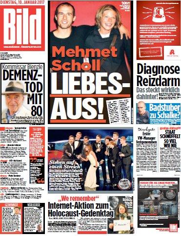 Cover: Bild-Zeitung vom 10.01.2017