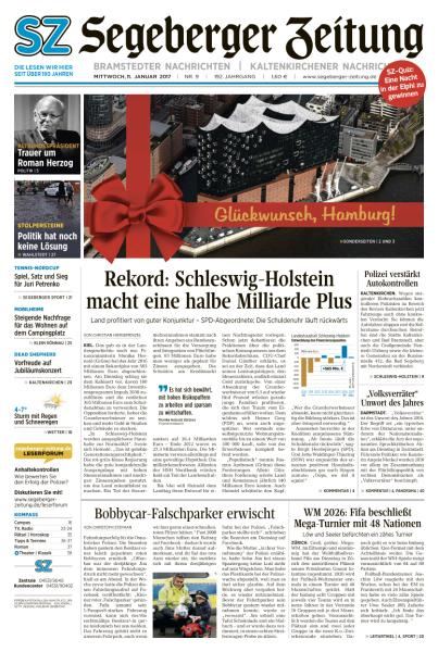 Cover: Segeberger Zeitung 11 Januar 2017