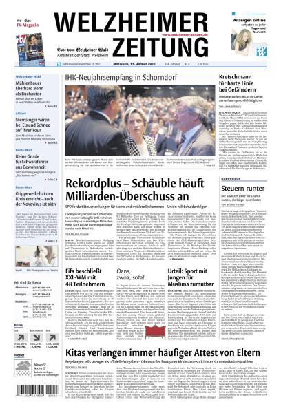 Cover: Welzheimer Zeitung 11 Januar 2017