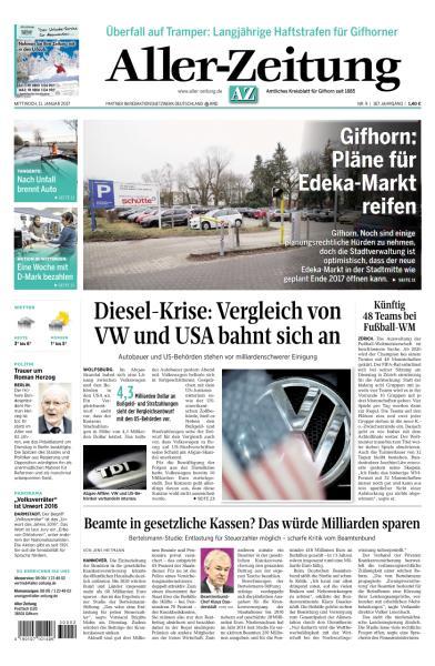 Aller Zeitung 11 Januar 2017