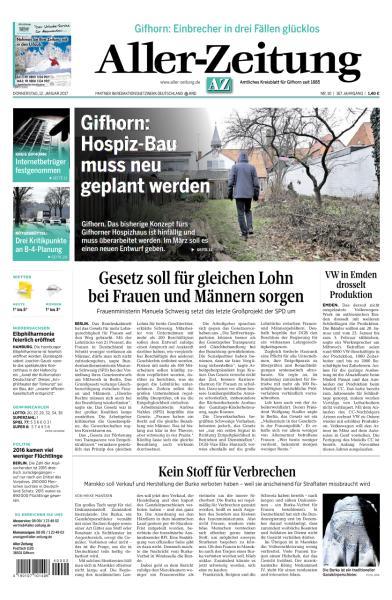Aller Zeitung 12 Januar 2017