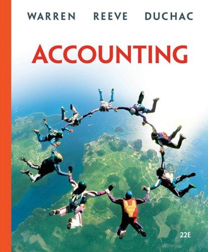 : Accounting 22 edition