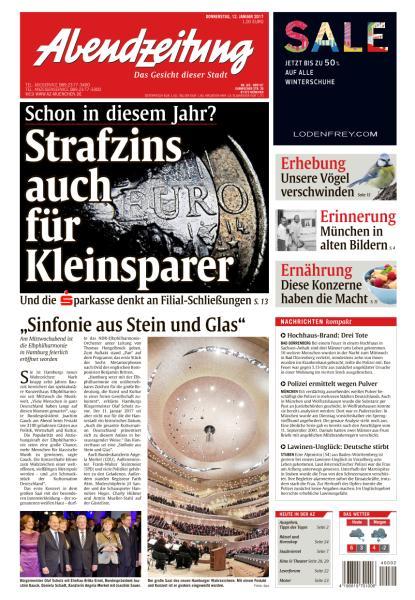 Abendzeitung Muenchen 12 Januar 2017