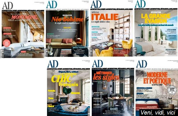 Ad Architectural Digest France Full Year 2016 Collection