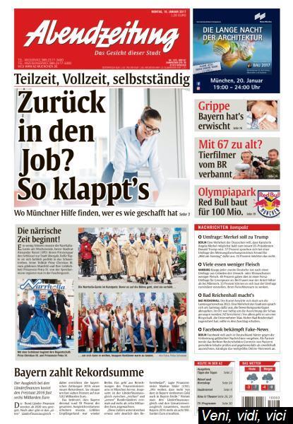 Abendzeitung Muenchen 16 Januar 2017