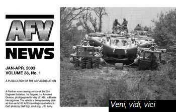 Afv News Vol 38 Nr 1 January April 2003