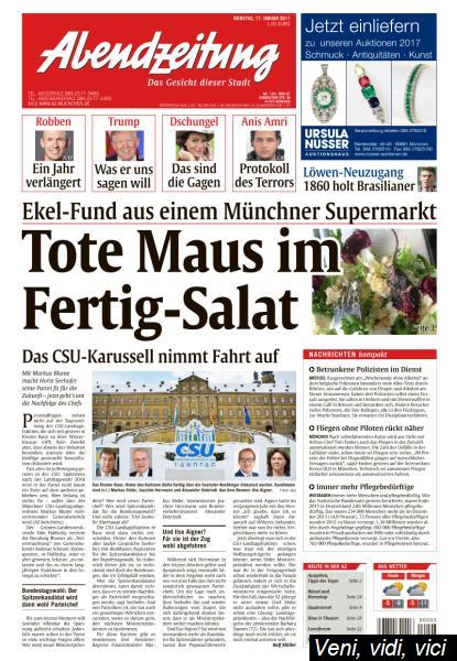 Abendzeitung Muenchen 17 Januar 2017
