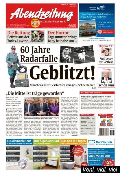 Abendzeitung Muenchen 21 Januar 2017