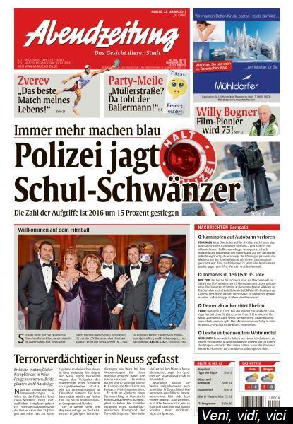 Abendzeitung Muenchen 23 Januar 2017