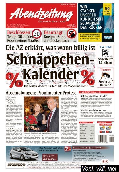Abendzeitung Muenchen 24 Januar 2017