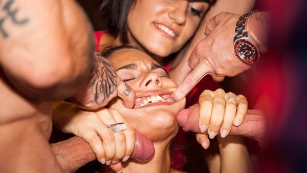 Apolonia Lapiedra, Sienna Day, Tina Kay - Apolonia bursts Barcelona Erotic Show 04.11.2016