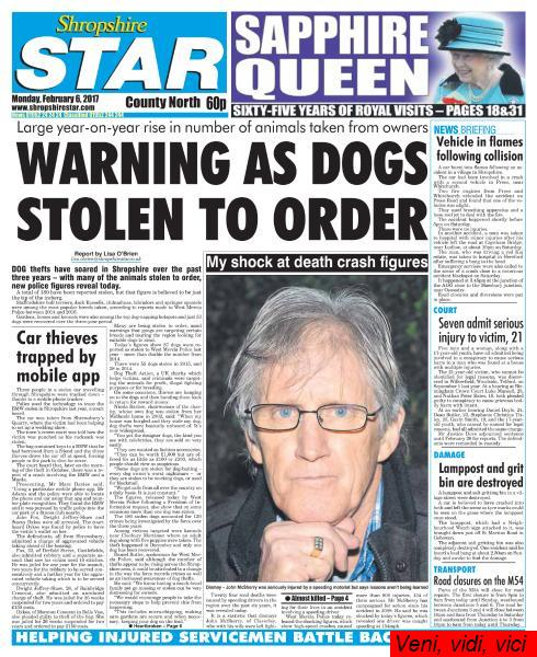 Shropshire Star Nrrth County Edition February 6 2017