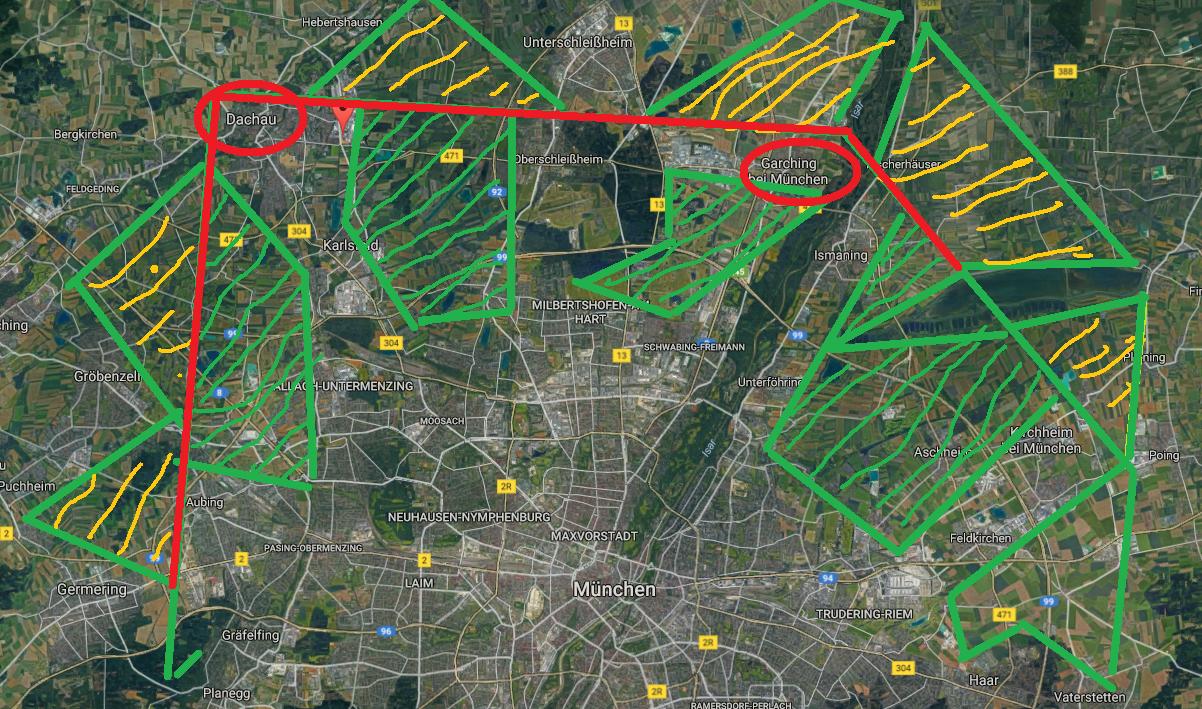 historische karten oberschleißheim