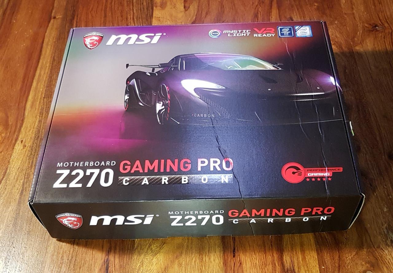 gj3o9mws - MSI Z270 GAMING PRO CARBON Testers Keepers