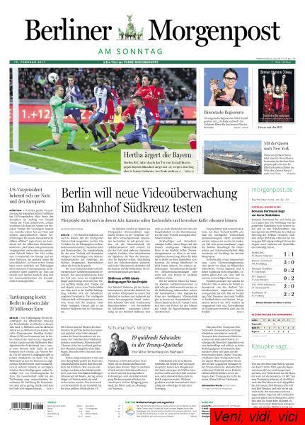 Berliner Morgenpost 19 Februar 2017