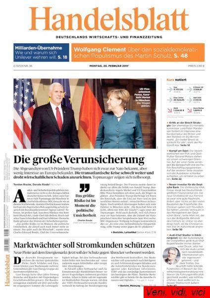 Handelsblatt 20 Februar 2017