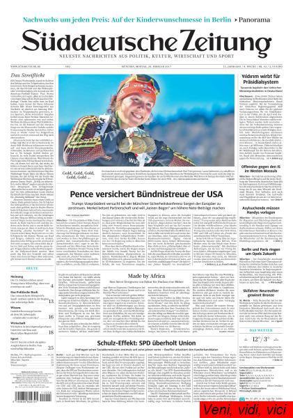 Sueddeutsche Zeitung 20 Februar 2017