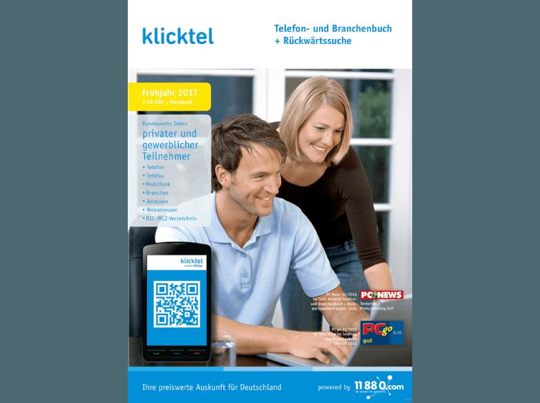 KlickTel Telefon- und Branchenbuch inkl Rueckwaertssuche Fruehjahr 2017 German - BLZiSO