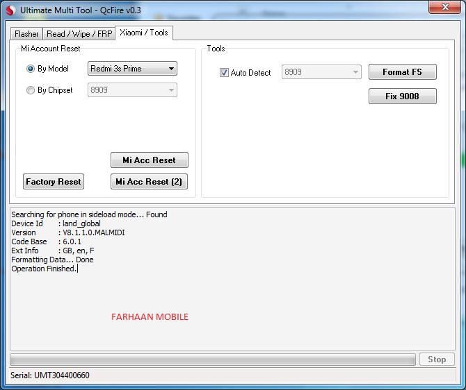 Redmi 3s prime 2016032 mi account removed single click by umt box