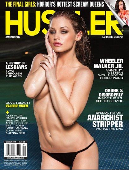 Hustler USA January 2017 Cover