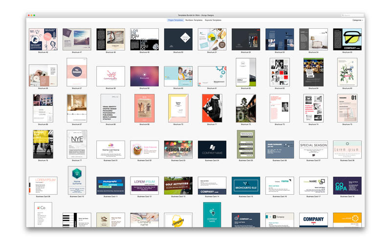 Templates Bundle for iWork Templates Guru By Alungu 5 0 MacOsx