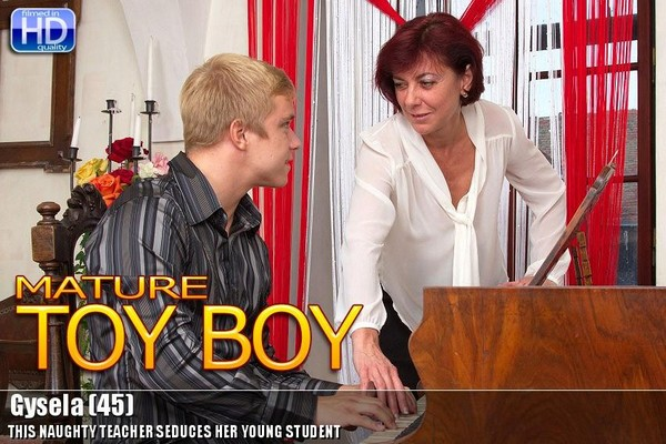 This naughty teacher seduces her young student Gysela 45 Cover