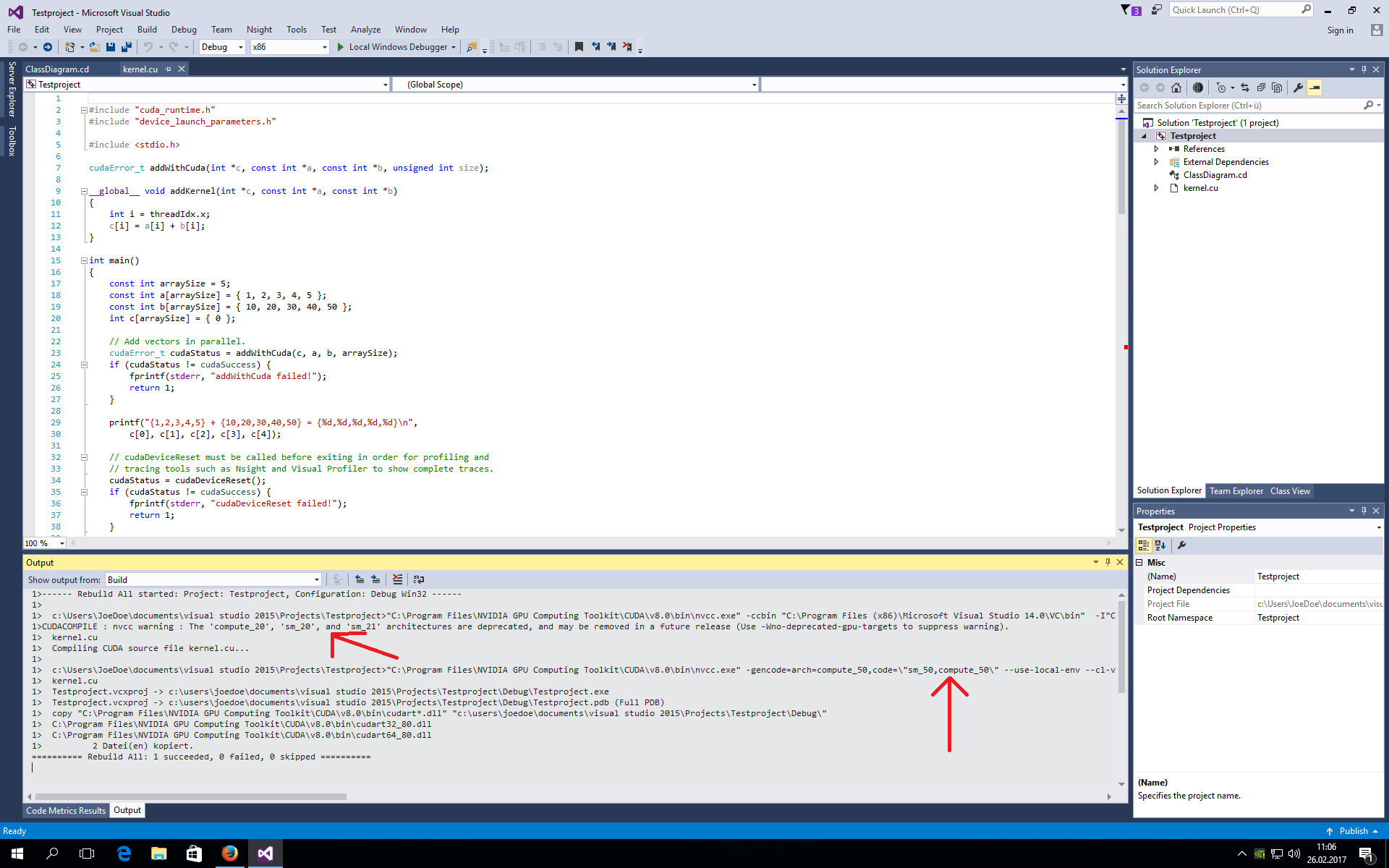 nvcc compiler warning 'compute_20'           - NVIDIA Developer Forums
